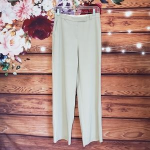 Armani Collezioni Cream Silk Blend Dress Pants